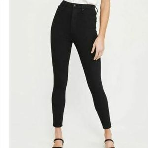 Abercrombie and Fitch high rise black denim jeans